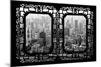 China 10MKm2 Collection - Asian Window - Shanghai View-Philippe Hugonnard-Mounted Photographic Print