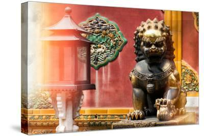 China 10MKm2 Collection - Instants Of Series - Bronze Chinese Lion-Philippe Hugonnard-Stretched Canvas Print