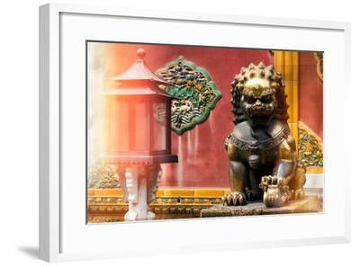 China 10MKm2 Collection - Instants Of Series - Bronze Chinese Lion-Philippe Hugonnard-Framed Photographic Print