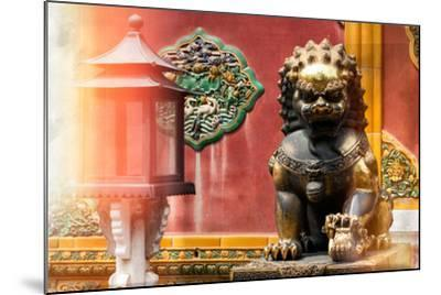China 10MKm2 Collection - Instants Of Series - Bronze Chinese Lion-Philippe Hugonnard-Mounted Photographic Print