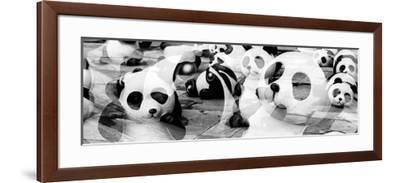 China 10MKm2 Collection - Psychedelic Pandas-Philippe Hugonnard-Framed Photographic Print