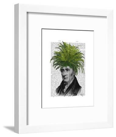 Fern Head Plant Head-Fab Funky-Framed Art Print