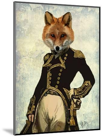 Admiral Fox Full-Fab Funky-Mounted Art Print