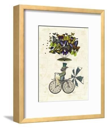 Time Flies Rabbit-Fab Funky-Framed Art Print