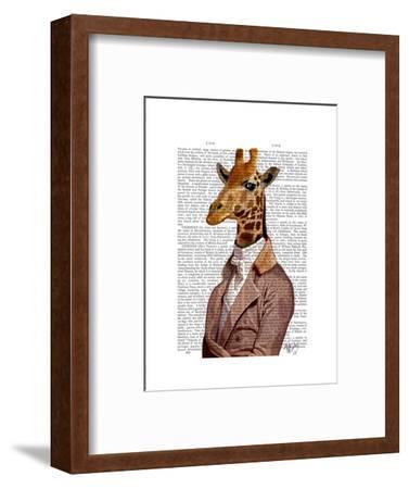 Regency Giraffe-Fab Funky-Framed Art Print