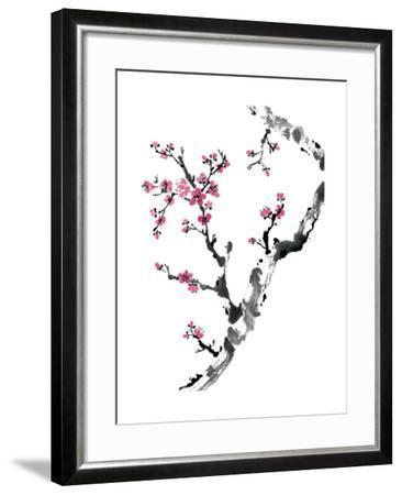 Plum Blossom Branch II-Nan Rae-Framed Art Print