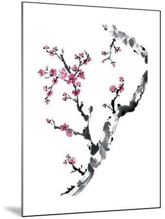 Plum Blossom Branch II-Nan Rae-Mounted Art Print