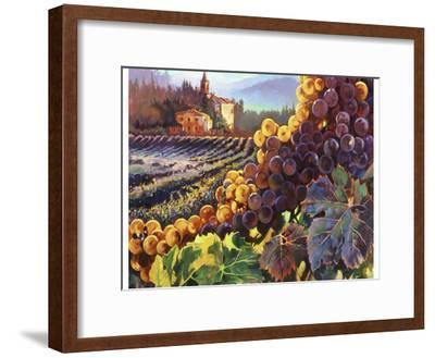 Tuscany Harvest-Clif Hadfield-Framed Art Print