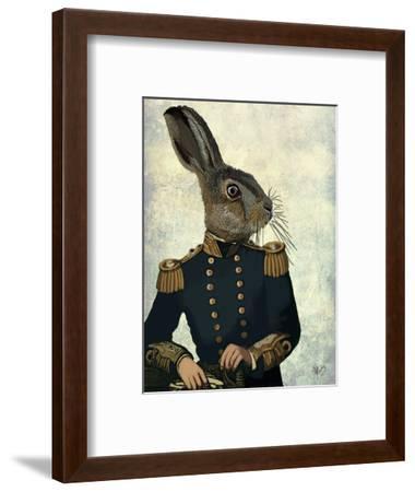 Lieutenant Hare-Fab Funky-Framed Art Print