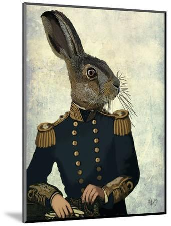 Lieutenant Hare-Fab Funky-Mounted Art Print