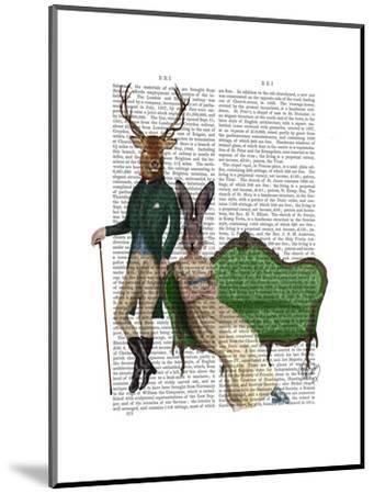Mr Deer and Mrs Rabbit-Fab Funky-Mounted Art Print