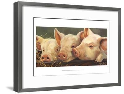 Pig Heaven-Carolyne Hawley-Framed Art Print