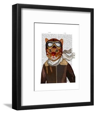 Flying Cat-Fab Funky-Framed Art Print