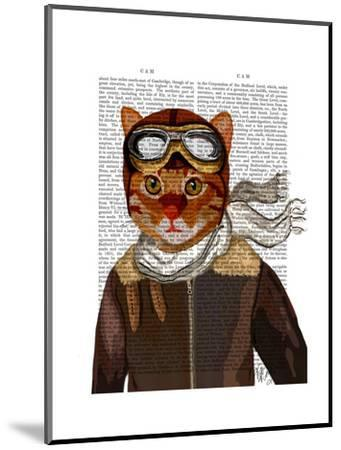 Flying Cat-Fab Funky-Mounted Art Print