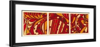 Orange Fission I-Tina Kafantaris-Framed Art Print