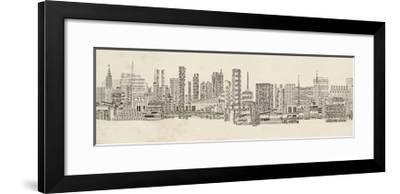 Neutral City Sounds-Sharon Chandler-Framed Art Print