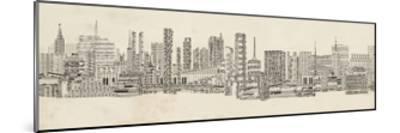Neutral City Sounds-Sharon Chandler-Mounted Art Print