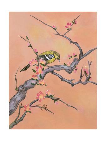 Asian Bird Illustration I-Judy Mastrangelo-Art Print