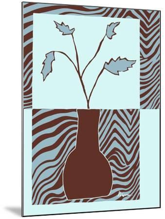 Minimalist Flowers in Blue II- Goldberger & Archie-Mounted Art Print