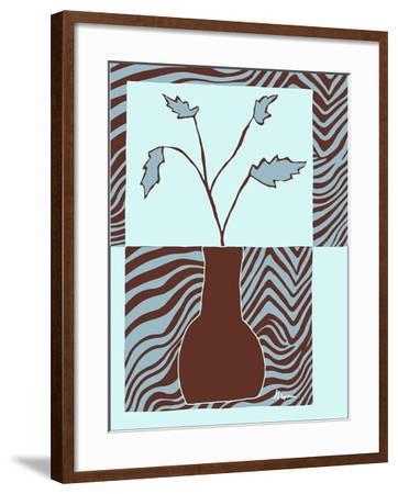 Minimalist Flowers in Blue II- Goldberger & Archie-Framed Art Print