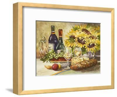 Wine and Sunflowers-Jerianne Van Dijk-Framed Art Print