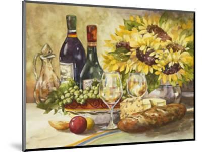 Wine and Sunflowers-Jerianne Van Dijk-Mounted Art Print