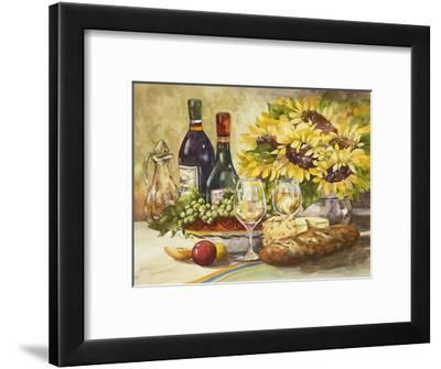 Wine and Sunflowers-Jerianne Van Dijk-Framed Art Print