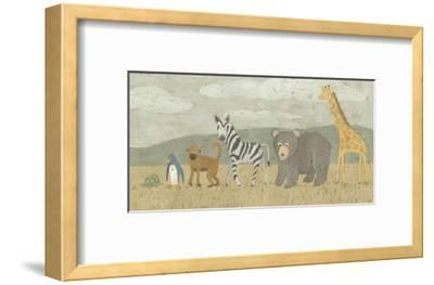 Animals All in a Row II-Megan Meagher-Framed Art Print