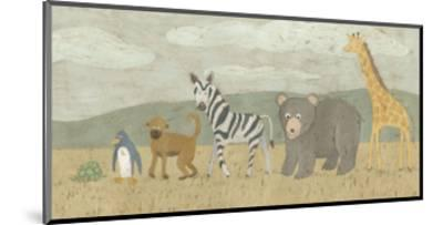 Animals All in a Row II-Megan Meagher-Mounted Art Print