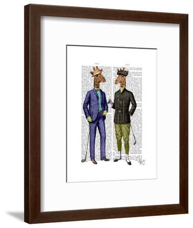 Golfing Giraffes-Fab Funky-Framed Art Print