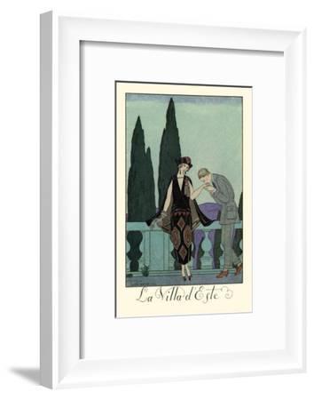 La Villa d'Este-Georges Barbier-Framed Art Print