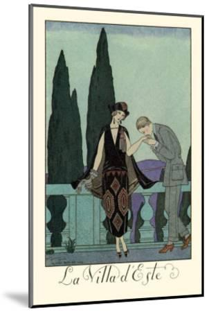 La Villa d'Este-Georges Barbier-Mounted Art Print