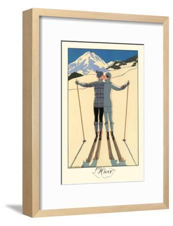L'Hiver-Georges Barbier-Framed Art Print