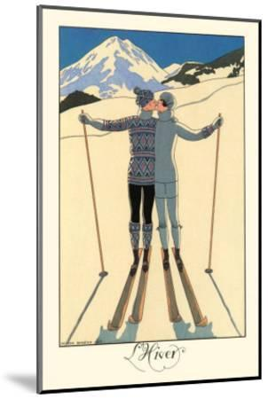L'Hiver-Georges Barbier-Mounted Art Print