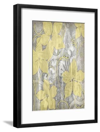 Yellow and Gray I-Jennifer Goldberger-Framed Art Print