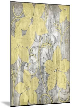 Yellow and Gray I-Jennifer Goldberger-Mounted Art Print