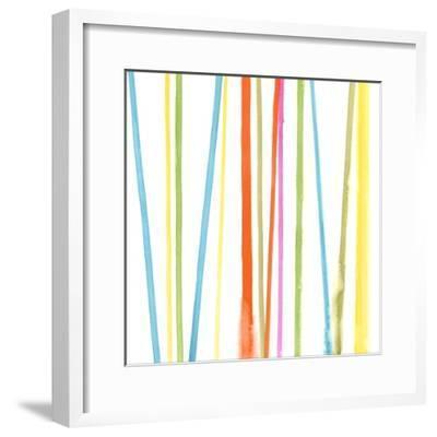 Cabana Stripes II-Erica J^ Vess-Framed Art Print