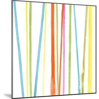 Cabana Stripes II-Erica J^ Vess-Mounted Art Print