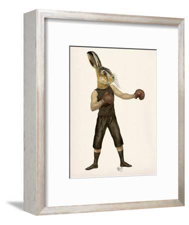 Boxing Hare-Fab Funky-Framed Art Print