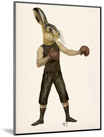 Boxing Hare-Fab Funky-Mounted Art Print