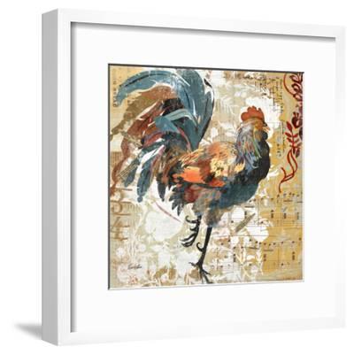 Rooster Flair I-Evelia Designs-Framed Art Print
