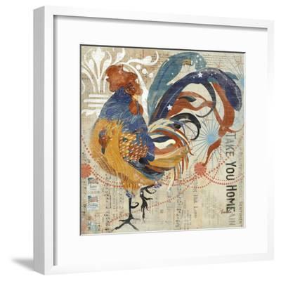 Rooster Flair IV-Evelia Designs-Framed Art Print