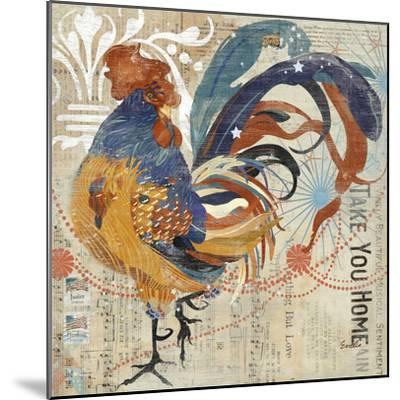 Rooster Flair IV-Evelia Designs-Mounted Art Print