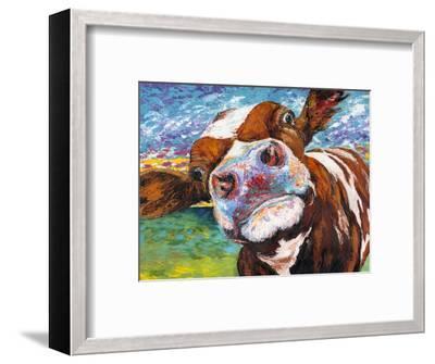 Curious Cow I-Carolee Vitaletti-Framed Art Print