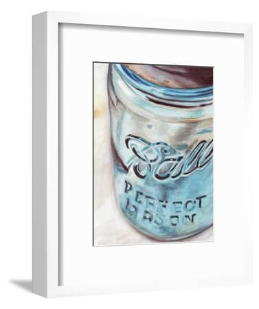 Mason Jar I-Redstreake-Framed Art Print