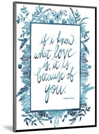 Love Quote II-Grace Popp-Mounted Art Print