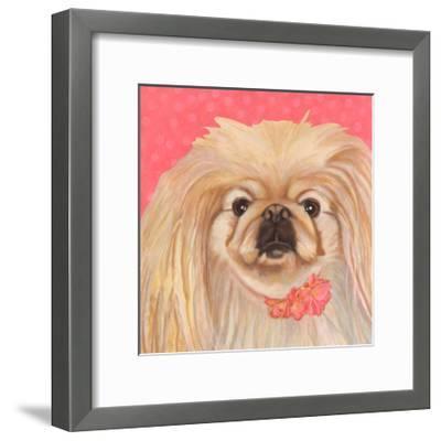 Dlynn's Dogs - Pinky-Dlynn Roll-Framed Art Print