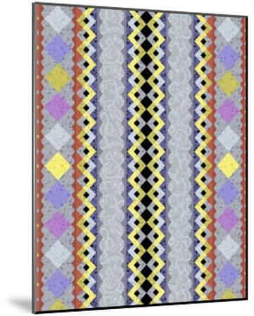 Vintage Stripe III-Katia Hoffman-Mounted Art Print
