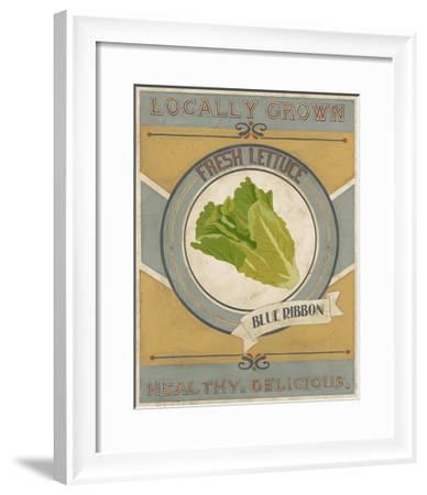 Vintage Produce Sign IV-June Vess-Framed Art Print