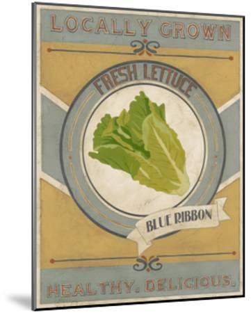Vintage Produce Sign IV-June Vess-Mounted Art Print